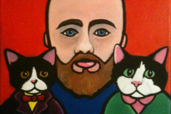 """Self-Portrait with Cats"""